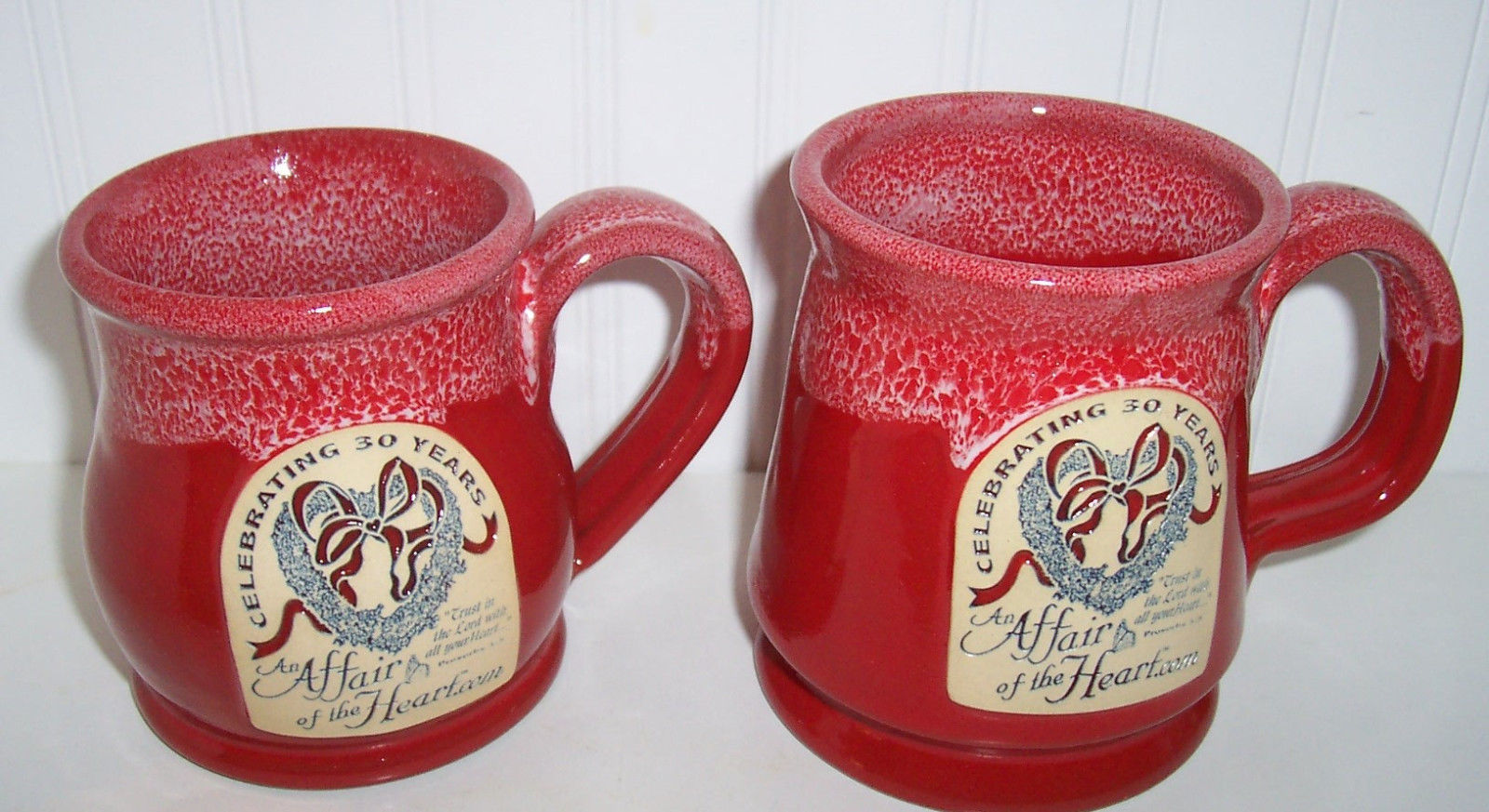 "Primary image for DENEEN POTTERIES ""AFFAIR OF tHE HEART""MUGS Celebrating 30 years"