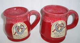 "DENEEN POTTERIES ""AFFAIR OF tHE HEART""MUGS Celebrating 30 years - $34.65"