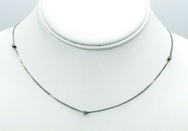 """Vintage Sterling Silver 925 ITALY 431 AR Serpentine Chain Necklace 17.5"""" - $25.74"""