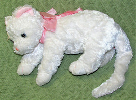 "12"" TY BEANIE BUDDY FANCY THE WHITE CAT PLUSH STUFFED ANIMAL BEANBAG KIT... - $18.70"