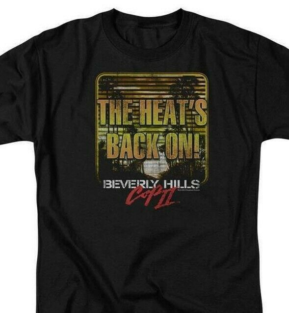 Beverly Hills Cop 2 T-shirt Heat Is On 1980's Eddie Murphy movie tee PAR429