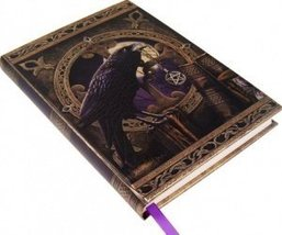 Black Raven & Pentagram Talisman Embossed Journal By Lisa Parker - $18.99