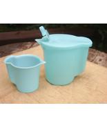 "VTG Tupperware Large Creamer Lt  Aqua Blue Flip Top Spout 5 1/2"" H #131 ... - $14.84"