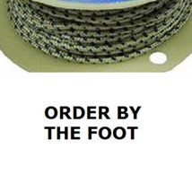 "Premium Quality Solid Braid Starter Rope Cord Rope #4 Diameter 1/8"" by the Foot - $1.26"