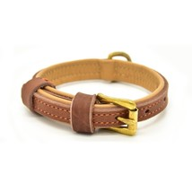 Luxury Real Leather Dog Collar- Handmade For Small And Medium Dog Breeds W - $24.54
