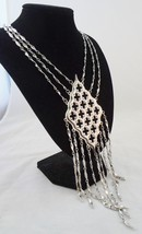 Napier 1972 BOOK PIECE Gothic Style Pendant Fringe Couture Runway Necklace - €127,08 EUR