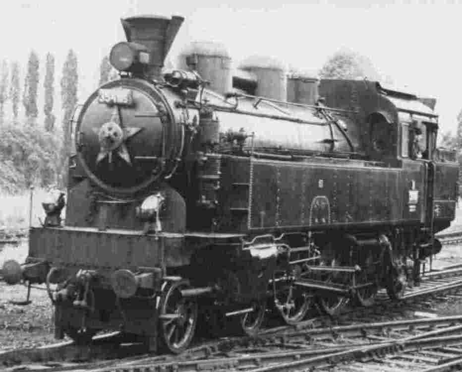 East European Steam Locomotive Post Card