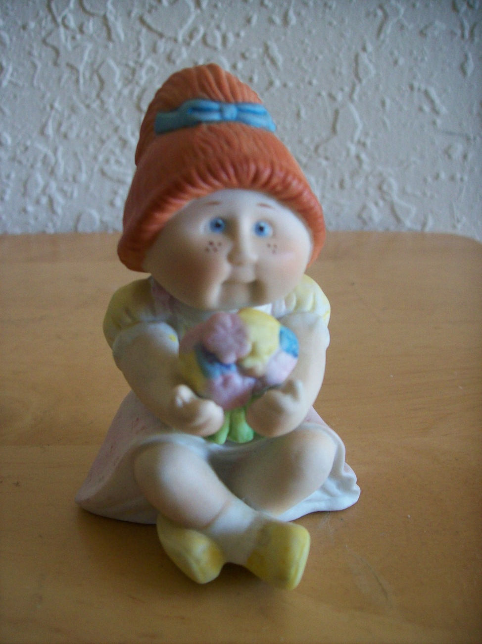 1984 Vintage Red Haired Ceramic Cabbage Patch Doll Figurine