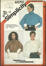 Simplicity Sewing Pattern 6070 Misses Womens Blouse Top Size 12 14 16 Ne... - $9.98