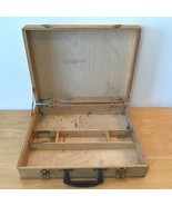 Vintage Dovetail Wood Artist Art Supply Box Plein Air Paint Travel Case ... - $49.95