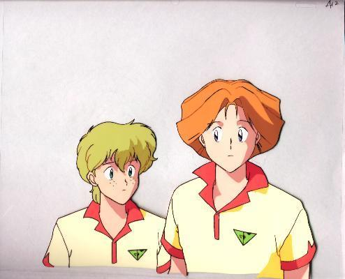 "Ashita e Free Kick ""Two Guys"" Anime Cel (0170)"