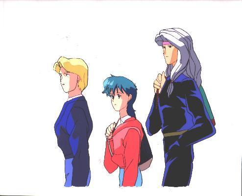 """Ashita e Free Kick """"Trio of Bishounen"""" Anime Cel (0175)"""