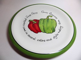 Judy Phipps Dinner Plate PEPPERS Green Red Certified International - $12.86