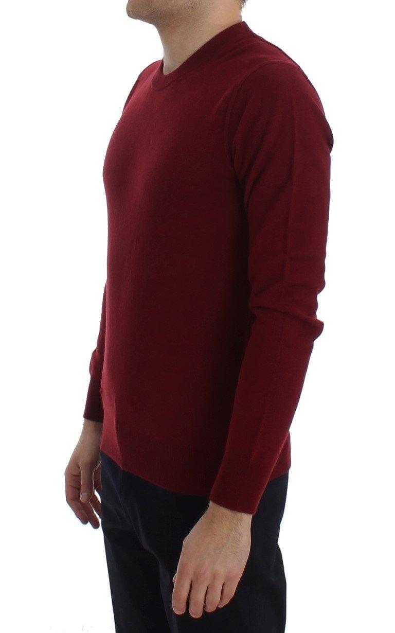 Dolce & Gabbana Red Cashmere Crew-neck Pullover Sweater 2055756