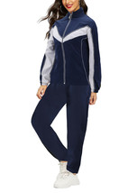 Women's Casual Jogger Gym Fitness Running Working Out Straight Leg Tracksuit Set image 2