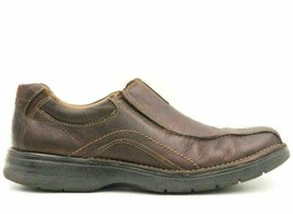 Clarks Men Slip On Bicycle Loafers Size US 11M Brown Leather - $32.92