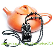 Lucky natural obsidian pendant fox peach chaotic evil anti-chop small three - €23,65 EUR