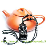 Lucky natural obsidian pendant fox peach chaotic evil anti-chop small three - $28.99