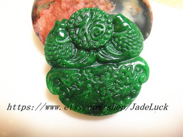 "Free Shipping ---Perfect unique hand-carved ""Pisces send blessing"" penda... - $29.99"