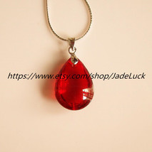 """Free delivery - Brazil natural red crystal """"drops"""" pendant jewelry gifts - $22.99"""