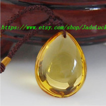 Natural Citrine pendant water drop pendant - $19.99