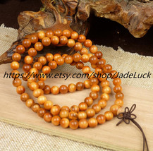 Free shipping - India blood dragon wood hand string 108 Rosary Bracelet Charm Be - $38.99