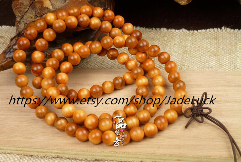 Free shipping - India blood dragon wood hand string 108 Rosary Bracelet Charm Be