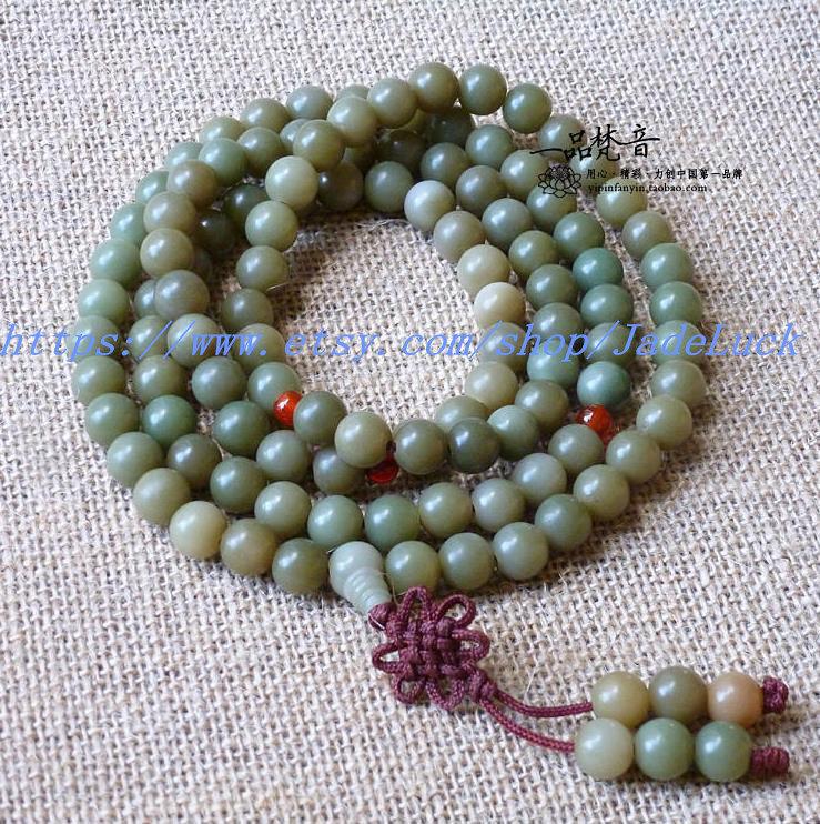 Free shipping - Tibet / cyan Bodhi root bead bracelet 108 10MM Rosary Bracelet
