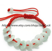 Free shipping----------natural jade peace buckle charm beaded bracelet - $19.99