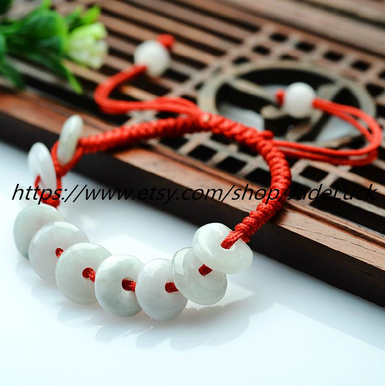 Free shipping----------natural jade peace buckle charm beaded bracelet