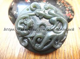 Natural Purple double Pi Yao charm pendant amulet pendant - $26.99