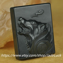 Free Shipping - hand-carved natural jade green jade charm Langtou wolf j... - $38.99