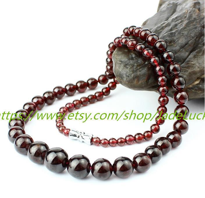Free shipping ---Natural red garnet / hoist bracelets 108 bracelet / Handicraft