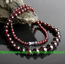 Free shipping ---Natural red garnet / hoist bracelets 108 bracelet / Han... - $28.99