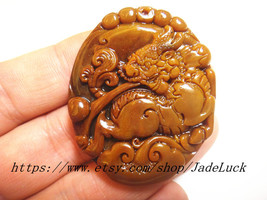 Free shipping ---Perfect unique natural Yellowstone Pi Yao amulet pendan... - $33.99