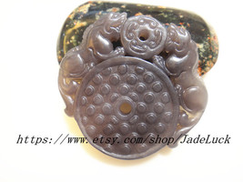 Free shipping -Natural Purple double Pi Yao charm pendant amulet pendant - $29.99