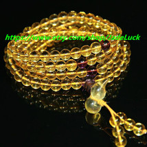 "8 mm 108 natural crystal rosary bead bracelet citrine ""gourd"" lucky male... - $29.99"