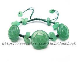 good luck Natural jade roses flower good luck charm bracelet - $17.99