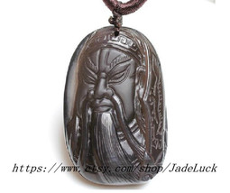 Need ice kind of obsidian pendant Guan Gong Gua... - $38.99