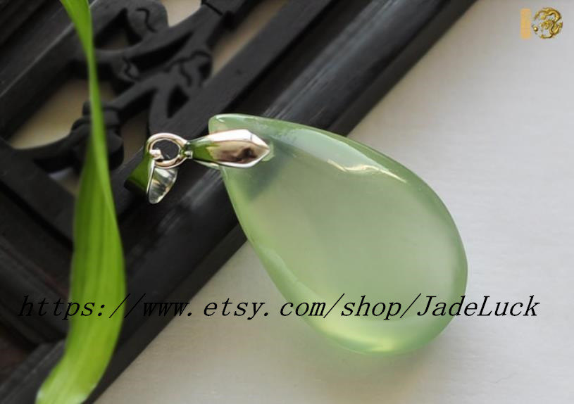 Primary image for Natural jade Ruyi jade necklace pendant droplets