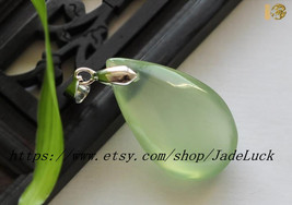 Natural jade Ruyi jade necklace pendant droplets - $23.99