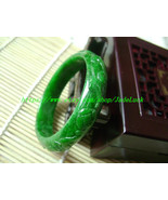 Ruyi carved jade green jade bracelets (custom size diameter 56 mm -60 mm) - $85.99
