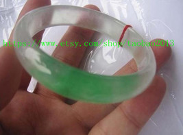 Natural green jade charm bracelet round AAA Custom size (diameter 54 mm - 62 mm) - $78.99