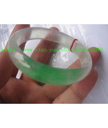 Natural green jade charm bracelet round AAA Custom size (diameter 54 mm ... - $78.99
