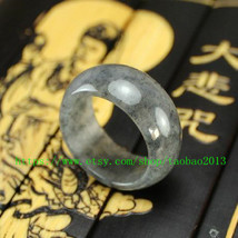 Light gray jade. Charm Jade Ring Customize your ring size (US5 - 9) - $23.99