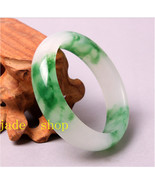 natural apple green grade AAA jade charm woman bangle  - $56.99