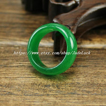 A pair Light green jade. charm A pair jade ring -Customize your ring size ( us 6 - $19.99