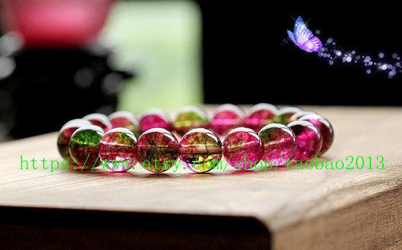 natural watermelon Shek Milly 8MM, health, meditation, prayer beads bracelet