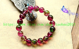natural watermelon Shek Milly 8MM, health, meditation, prayer beads brac... - $21.99