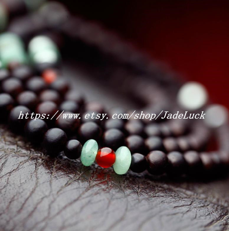 Natural fashion multi quaint big leaf sandalwood rosary bracelet rosary bracelet